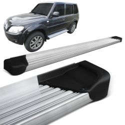 Estribo Lateral Pajero Tr4 2002 a 2015 Aluminio Natural A3