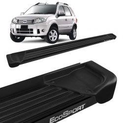 Estribo Lateral Ecosport 2003 a 2012 Aluminio Preto A1