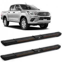 Estribo Lateral Hilux 2016 a 2020 Preto Keko My Road