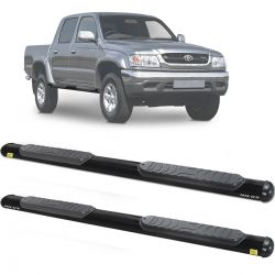 Estribo Lateral Hilux CD 1997 a 2004 Oblongo Oval Preto Track