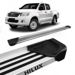 Estribo Lateral Hilux CD 2005 a 2015 Aluminio Natural A1