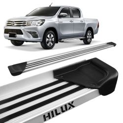 Estribo Lateral Hilux CD 2016 a 2018 Aluminio Natural A1