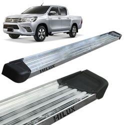 Estribo Lateral Hilux CD 2016 a 2020 Aluminio Polido A3