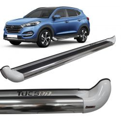 Estribo Lateral Hyundai Tucson 2005 a 2017 Branco Personal