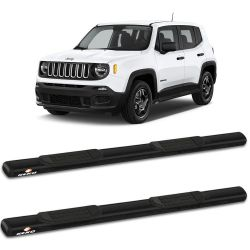 Estribo Lateral Jeep Renegade 2015 a 2019 Oblongo Preto Keko K1
