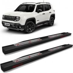 Estribo Lateral Jeep Renegade 2015 a 2020 Steel Carbon Preto Cek
