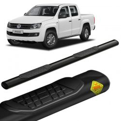 Estribo Lateral Amarok 2010 a 2020 CD Oval Preto Keko k1