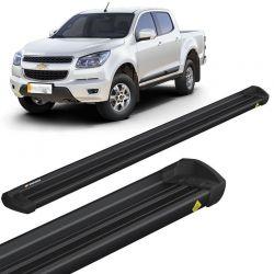 Estribo Lateral S10 2012 a 2018 CD Aluminio Preto Keko K1