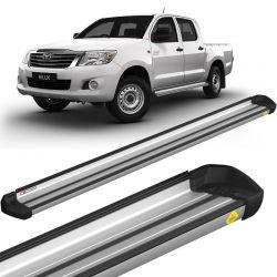 Estribo Lateral Hilux 2005 a 2015 Aluminio Prata Keko K1