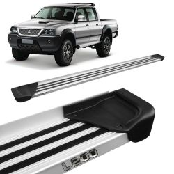 Estribo Lateral L200 Sport Outdoor 2005 a 2012 Aluminio Natural A1