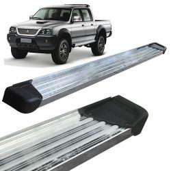 Estribo Lateral L200 Sport Outdoor 2005 a 2012 Aluminio Polido A3