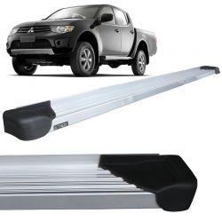 Estribo Lateral L200 Triton 2008 a 2018 Aluminio Natural A3