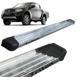 Estribo Lateral L200 Triton 2008 a 2018 Aluminio Polido A3