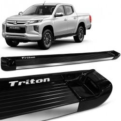 Estribo Lateral L200 Triton Sport 2017 a 2021 Preto Fosco Personalizado