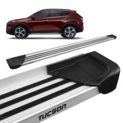 Estribo Lateral New Tucson 2017 a 2019 Aluminio Natural A1