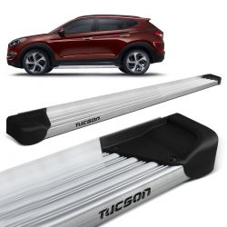 Estribo Lateral New Tucson 2017 a 2019 Aluminio Natural A3