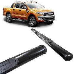Estribo Lateral Ranger CD 2013 a 2020 Oval Preto VF
