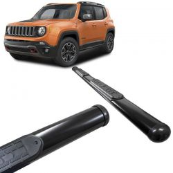 Estribo Lateral Jeep Renegade 2016 a 2018 Oval Preto VF