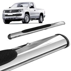 Estribo Lateral Oval Amarok CS 2010 a 2020 Oblongo Cromado