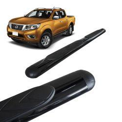 Estribo Lateral Oval Nissan Frontier 2017 a 2019 Preto Bepo