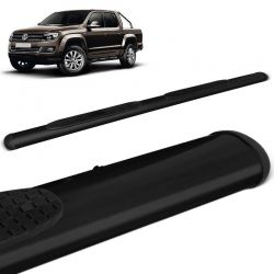 Estribo Lateral Amarok CD 2010 a 2021 Oblongo Oval Preto