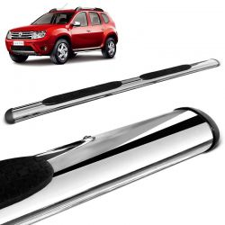 Estribo Lateral Oval Duster 2012 a 2019 Oblongo Cromado