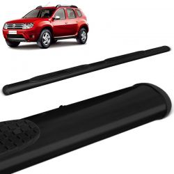 Estribo Lateral Oval Duster 2012 a 2019 Oblongo Preto