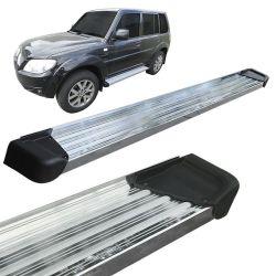 Estribo Lateral Pajero Tr4 2002 a 2015 Aluminio Polido A3