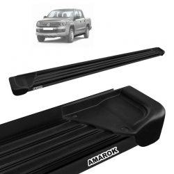 Estribo Lateral Amarok CD 2010 a 2020 Aluminio Preto A1