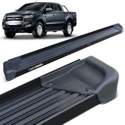 Estribo Lateral Ranger CD 2013 a 2020 Aluminio Preto A3
