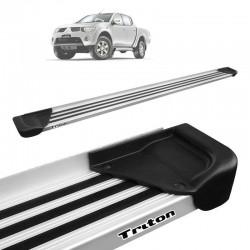 Estribo Lateral L200 Triton 2008 a 2018 Aluminio Natural A1
