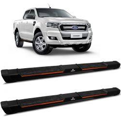 Estribo Lateral Ranger 2013 a 2020 Aluminio Preto Keko My Road