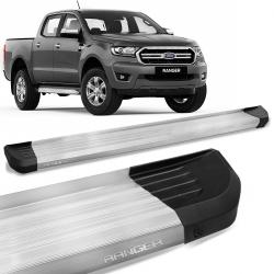 Estribo Lateral Ranger 2013 a 2021 CD Alumínio Prata Anodizado