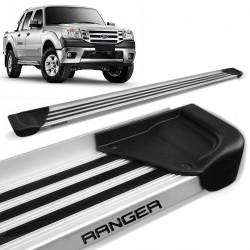 Estribo Lateral Ranger CD 1998 a 2012 Aluminio Natural A1