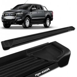 Estribo Lateral Ranger CD 2013 a 2020 Aluminio Preto A1