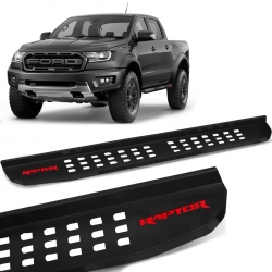 Estribo Lateral Raptor Ranger 2013 a 2022 Preto Steel Carbon Modelo Original