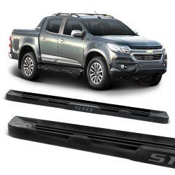Estribo Lateral S10 2012 a 2020 Stribus Off-Road Alumínio Preto Fosco