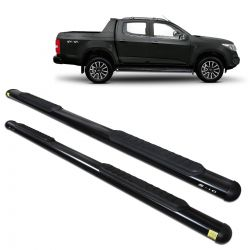 Estribo Lateral S10 CD 2012 a 2020 Oblongo Oval Preto Track