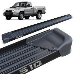 Estribo Lateral S10 CS 1995 a 2011 Aluminio Preto A3