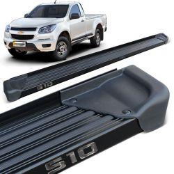 Estribo Lateral S10 CS 2012 a 2019 Aluminio Preto A3