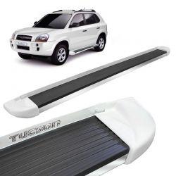 Estribo Lateral Hyundai Tucson 2005 a 2017 Branco Stribus