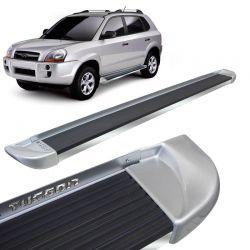 Estribo Lateral Hyundai Tucson 2005 a 2017 Prata Stribus
