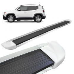 Estribo Lateral Jeep Renegade 2015 a 2018 Branco Ambiente Stribus