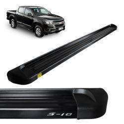 Estribo Lateral S10 2012 a 2018 Alumínio Preto Track