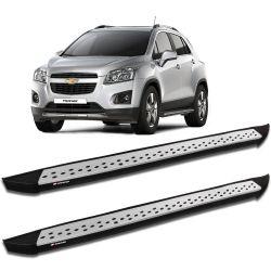 Estribo Lateral Tracker 2014 a 2019 Aluminio Prata K2 My Way