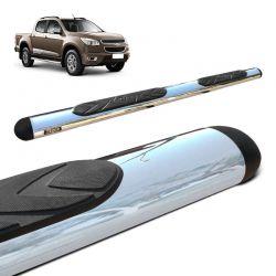Estribo Lateral Oval S10 2012 a 2021 Cromado Aço Carbono Bepo