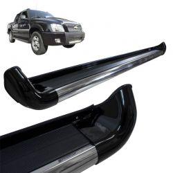 Estribo Lateral S10 2005 a 2011 Preto Solido Com Alargador