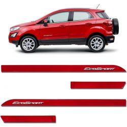 Friso Lateral Ecosport 2013 a 2020 Vermelho Arpoador Alto Relevo