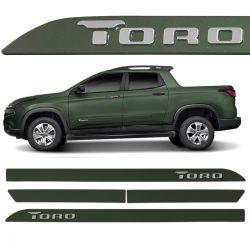 Friso Lateral Fiat Toro 2016 a 2020 Verde Botanic Alto Relevo