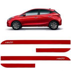 Friso Lateral HB20 2020 Vermelho Magic Facão Sean Car